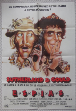SPYS, Original Argentinian Movie Poster, Donald Sutherland, Elliot Gould, '74